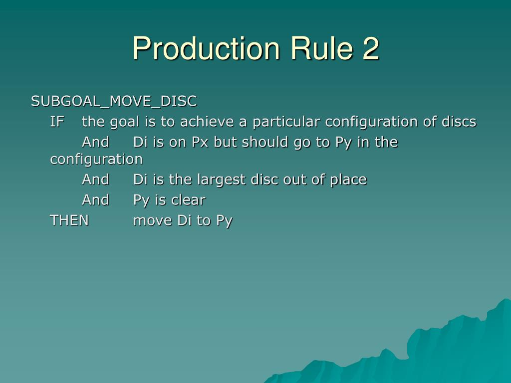 Production Rule 2