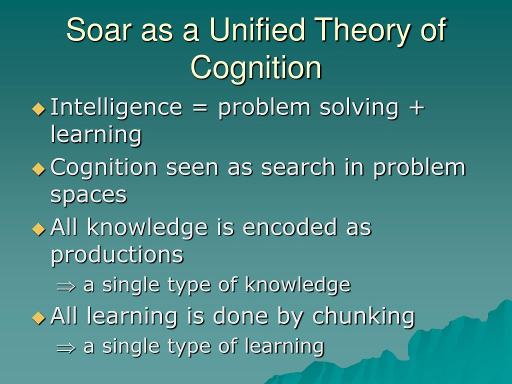 Soar as a Unified Theory of Cognition