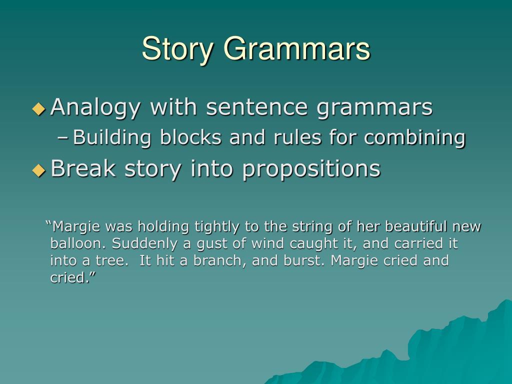 Story Grammars