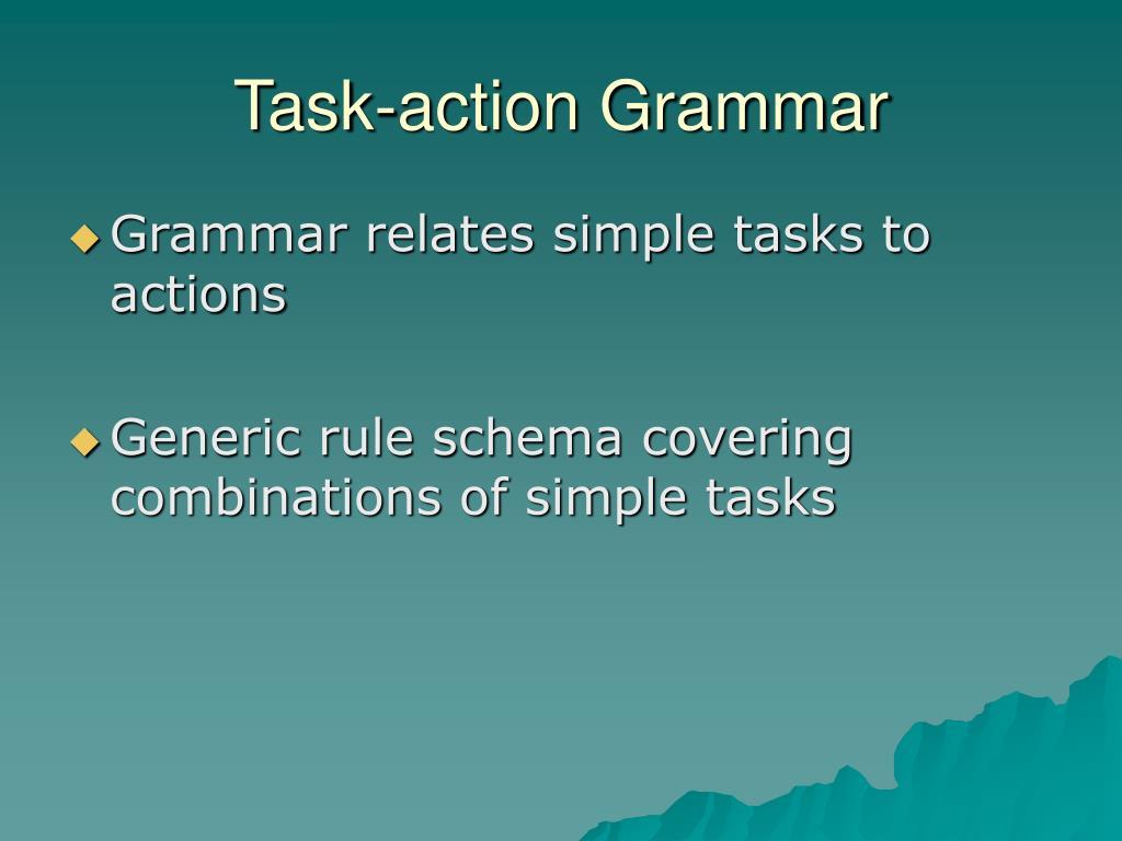 Task-action Grammar