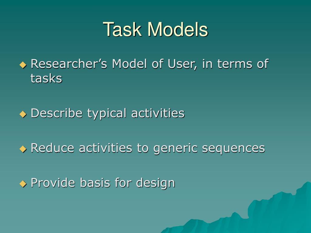 Task Models