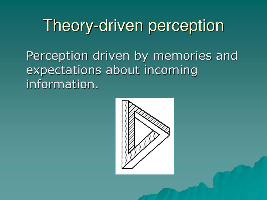 Theory-driven perception