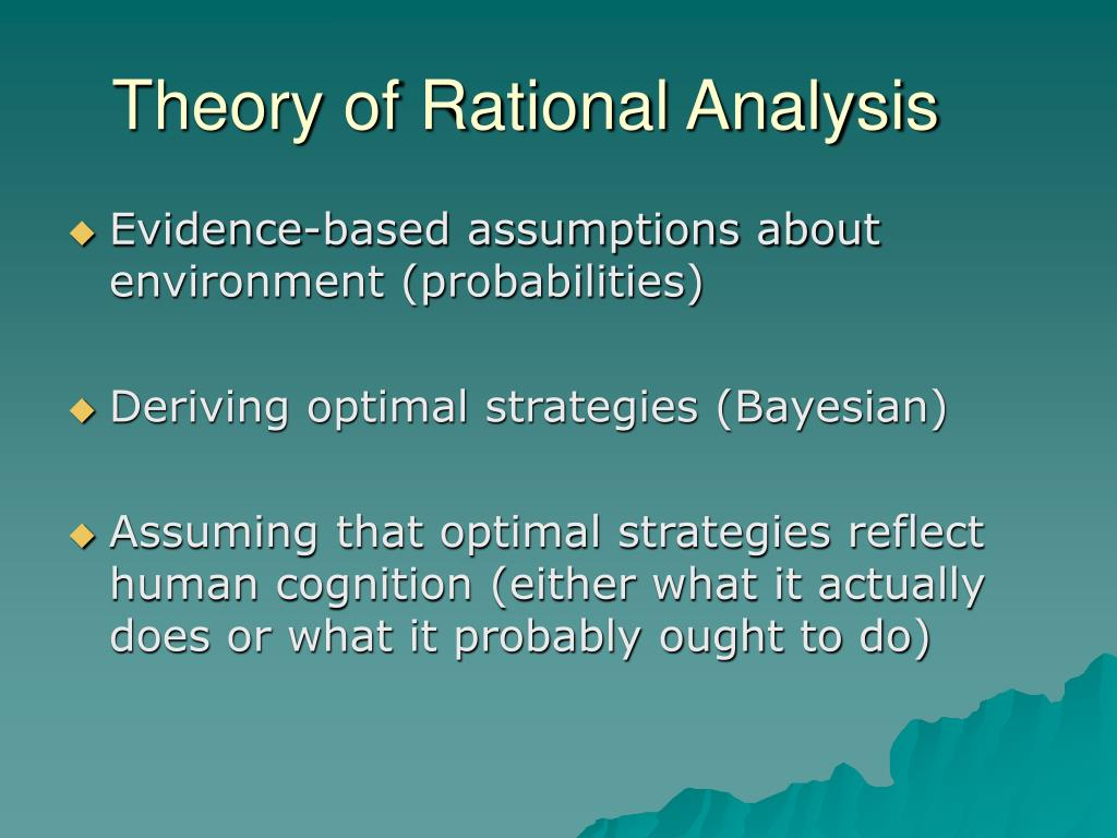 Theory of Rational Analysis