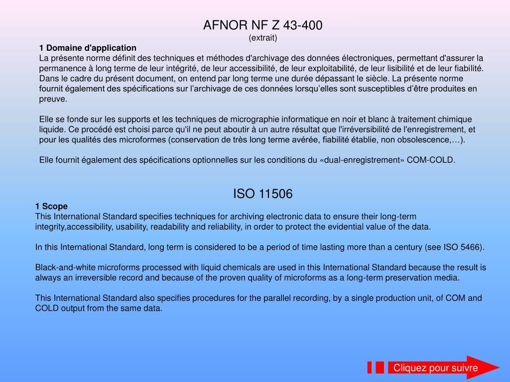 AFNOR NF Z 43-400