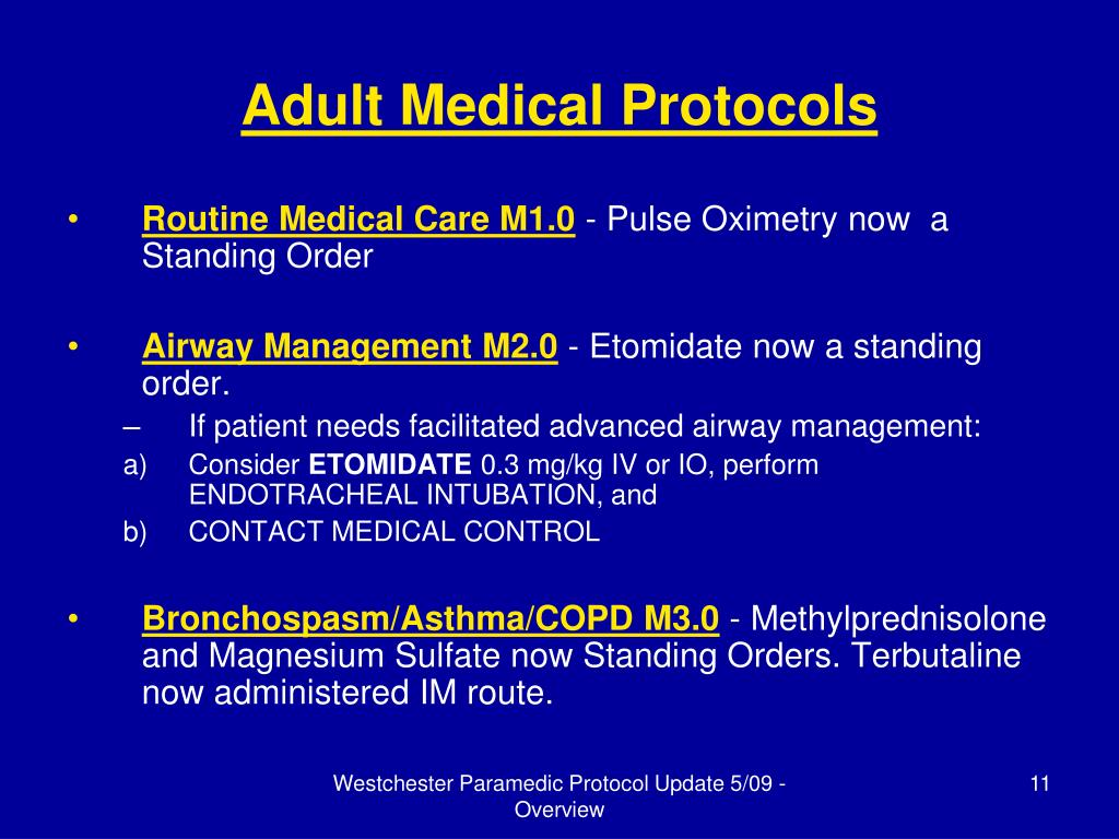 Adult Medical Protocols
