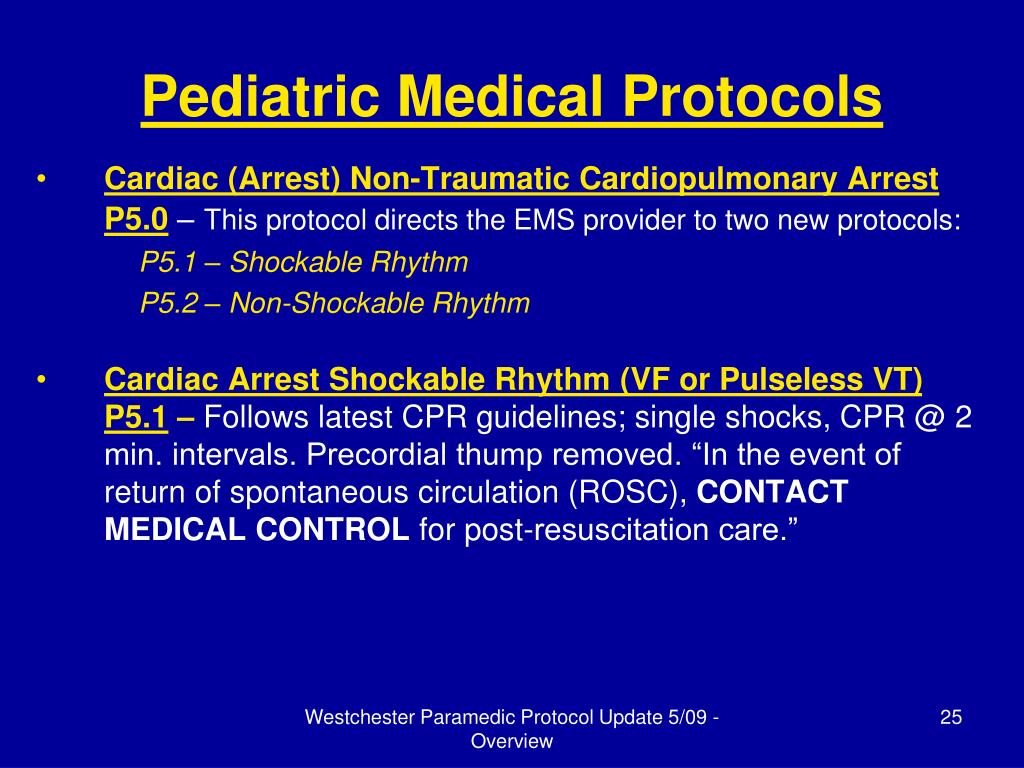 Pediatric Medical Protocols