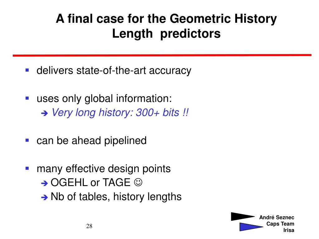 A final case for the Geometric History Length  predictors