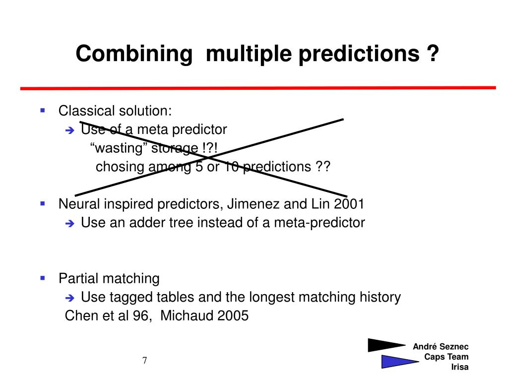 Combining  multiple predictions ?