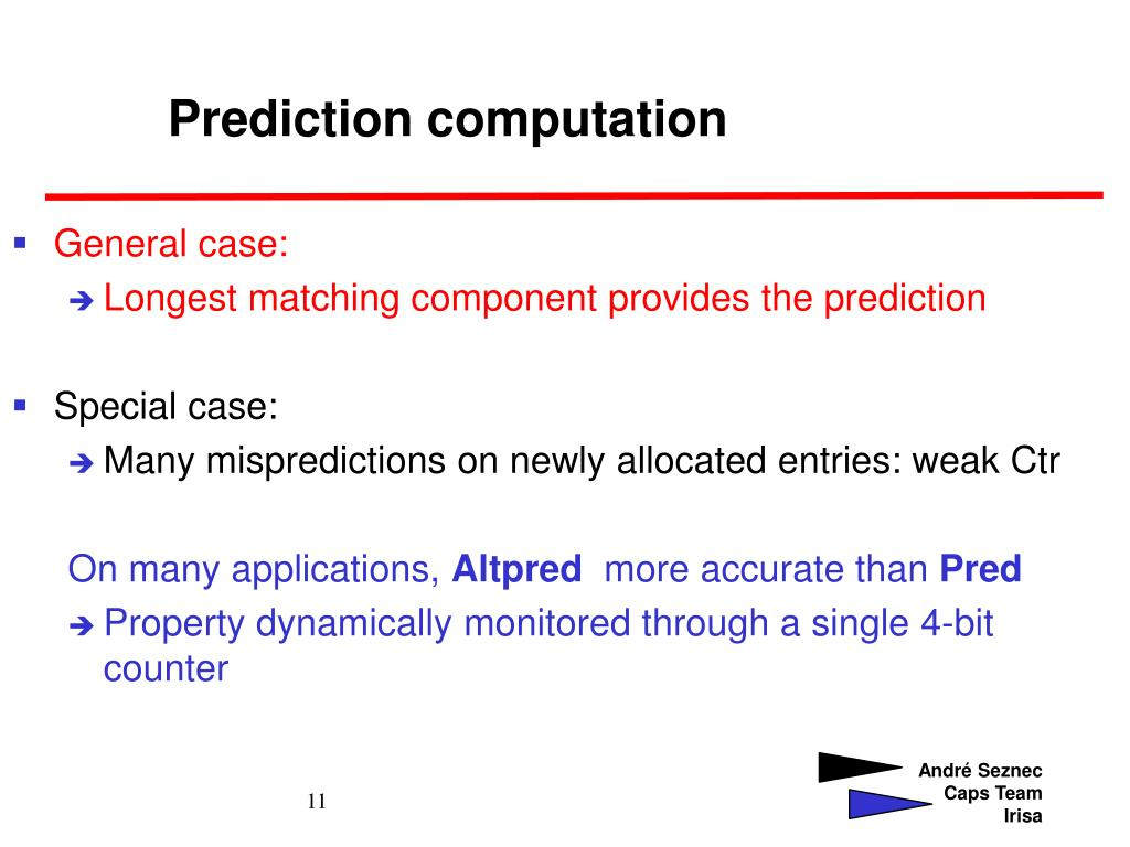 Prediction computation