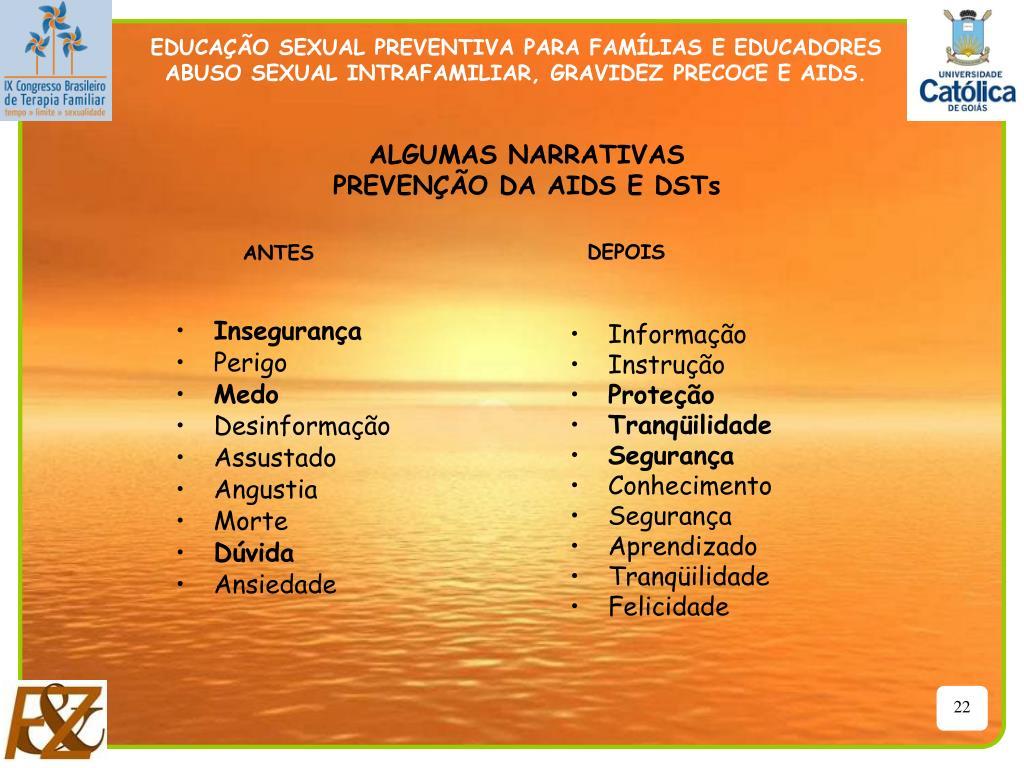 EDUCAÇÃO SEXUAL PREVENTIVA PARA FAMÍLIAS E EDUCADORES