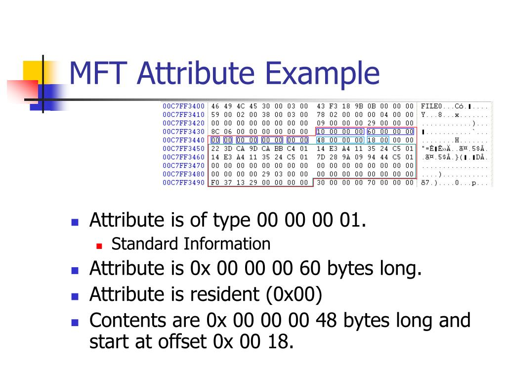 MFT Attribute Example