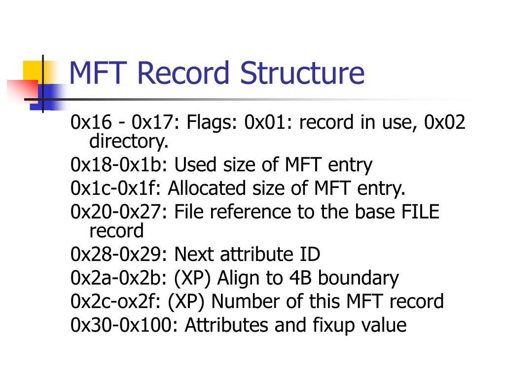 MFT Record Structure