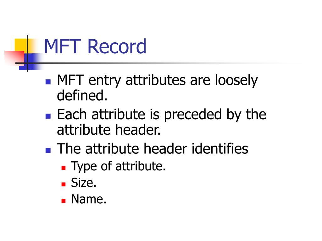MFT Record
