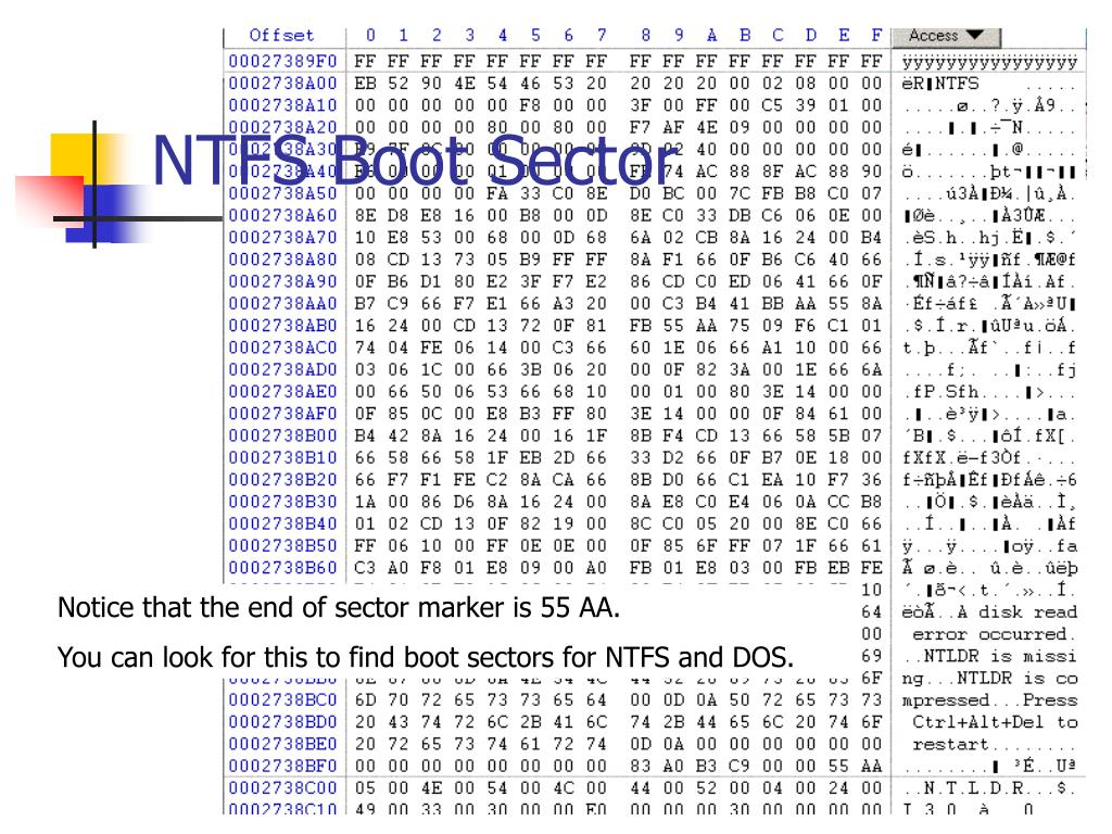 NTFS Boot Sector