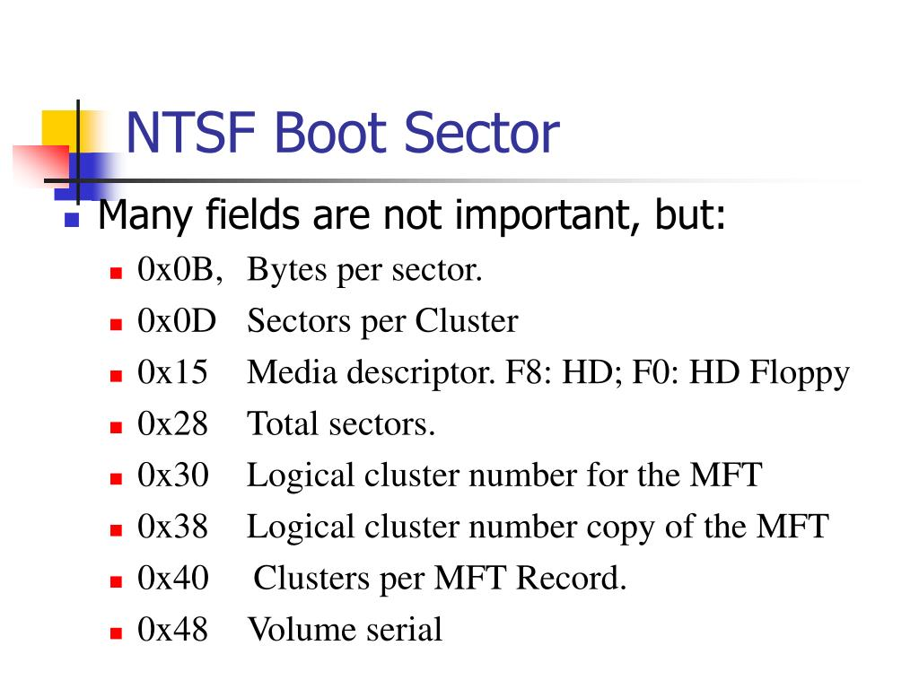 NTSF Boot Sector
