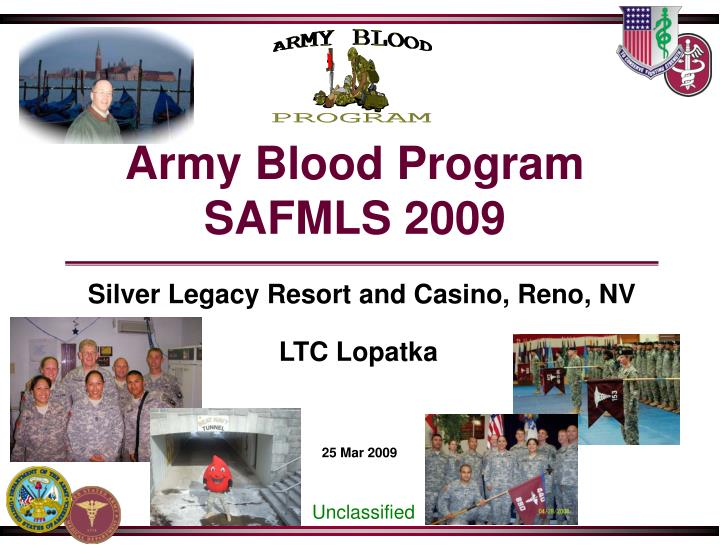Army blood program safmls 2009 l.jpg
