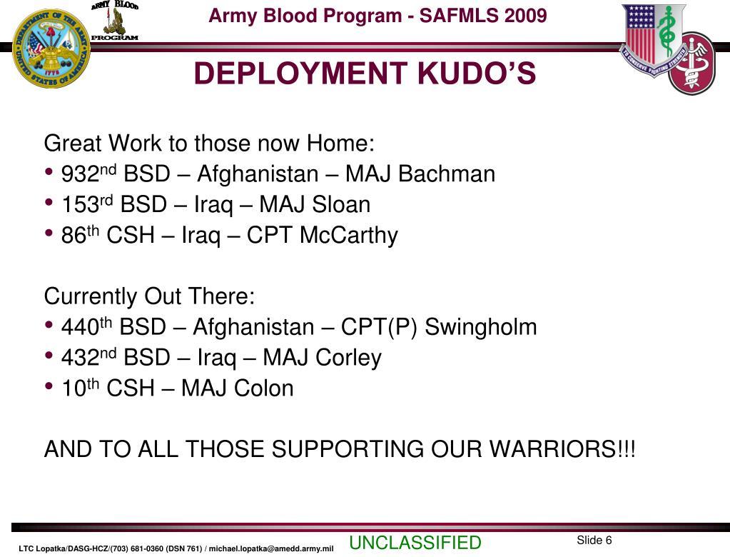 DEPLOYMENT KUDO'S