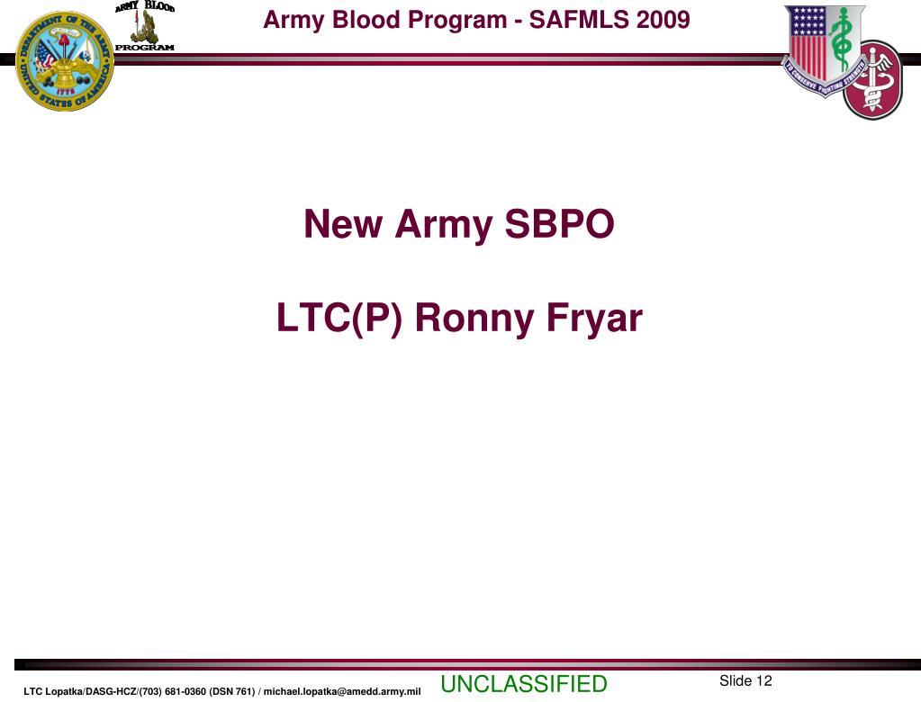 New Army SBPO