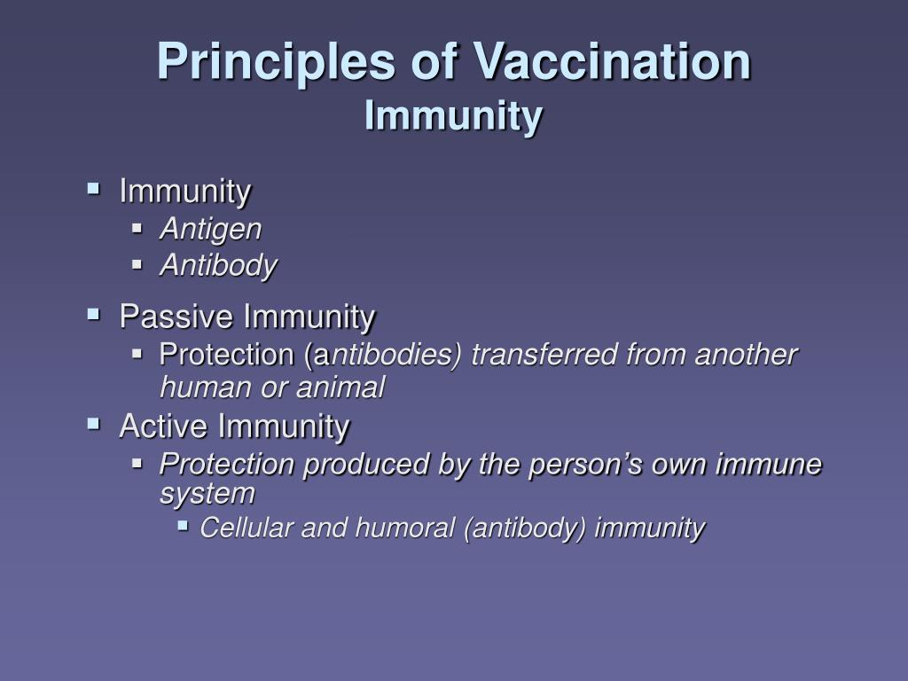 Principles of Vaccination
