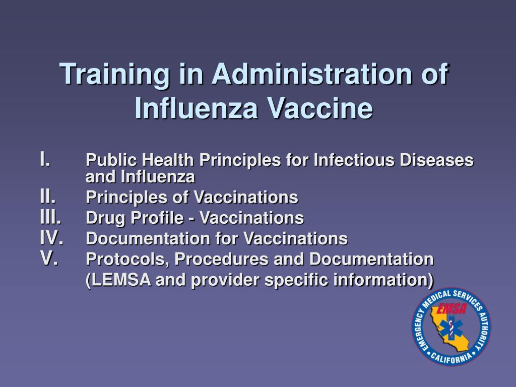 Training in Administration of Influenza Vaccine
