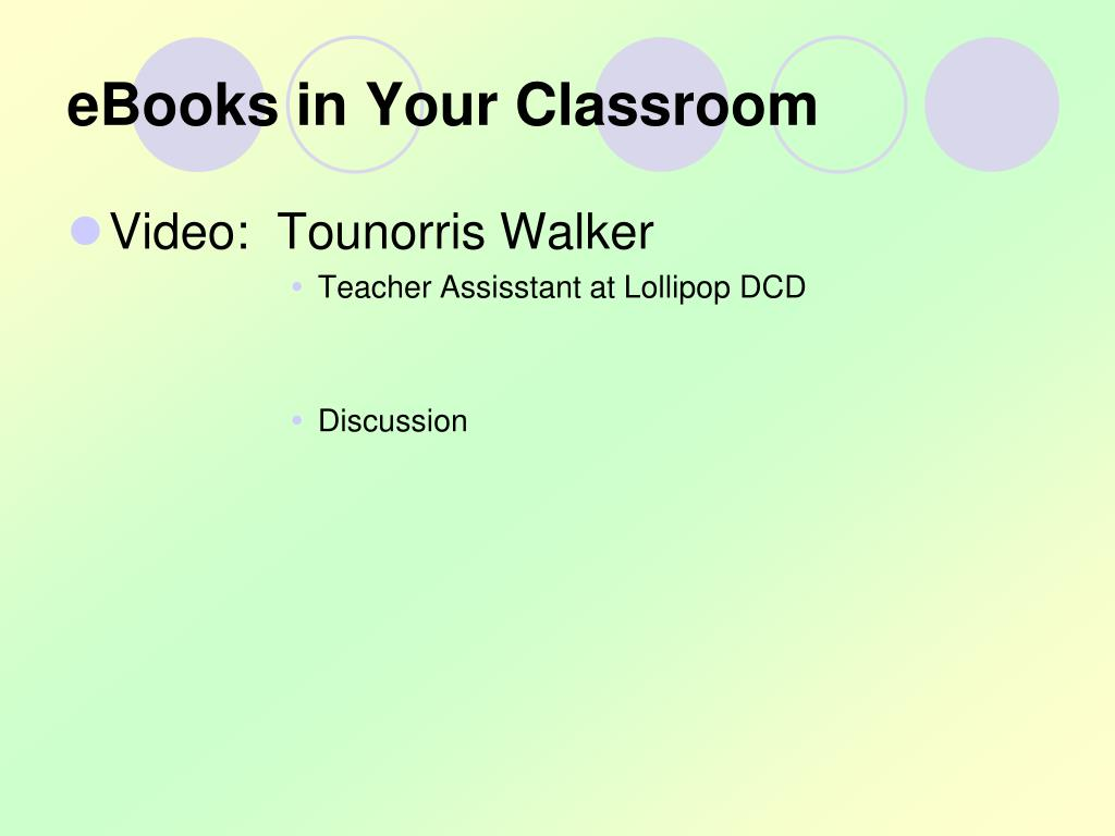 eBooks in Your Classroom
