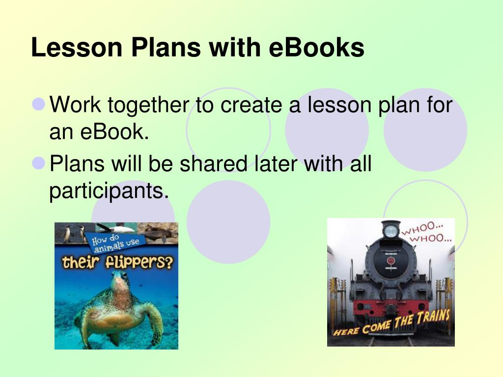 Lesson Plans with eBooks