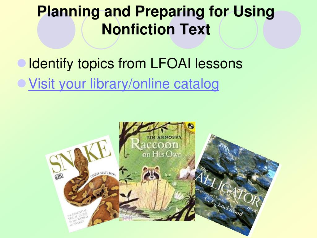 Planning and Preparing for Using