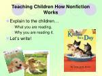 teaching children how nonfiction works