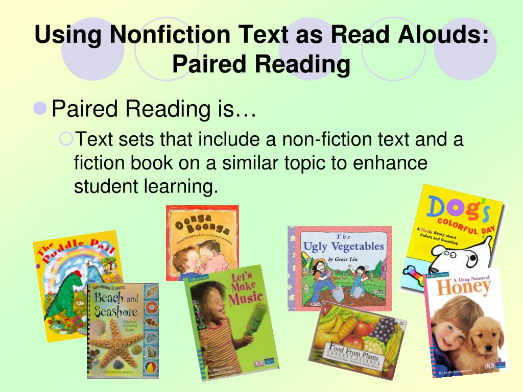 Using Nonfiction Text as Read Alouds: Paired Reading