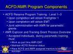 acfd amr program components