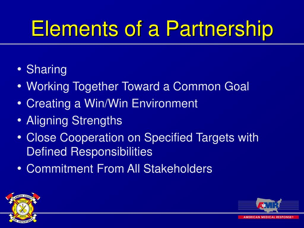 Elements of a Partnership