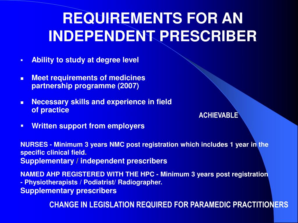 consultation skills in relation to non medical prescribing nursing essay Academiaedu is a platform for academics to share research papers  frameworks for non-medical prescribing 11 i have had experience of i have had i would like cpd.