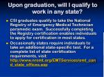 upon graduation will i qualify to work in any state