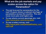 what are the job markets and pay scales across the nation for paramedics