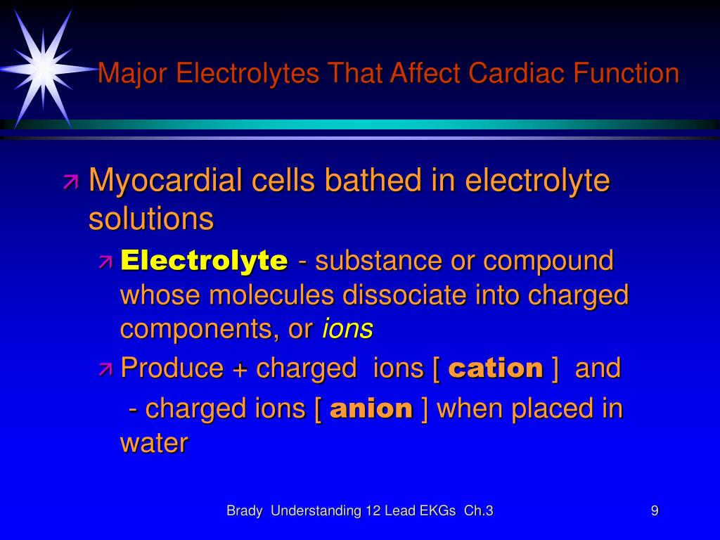 Major Electrolytes That Affect Cardiac Function