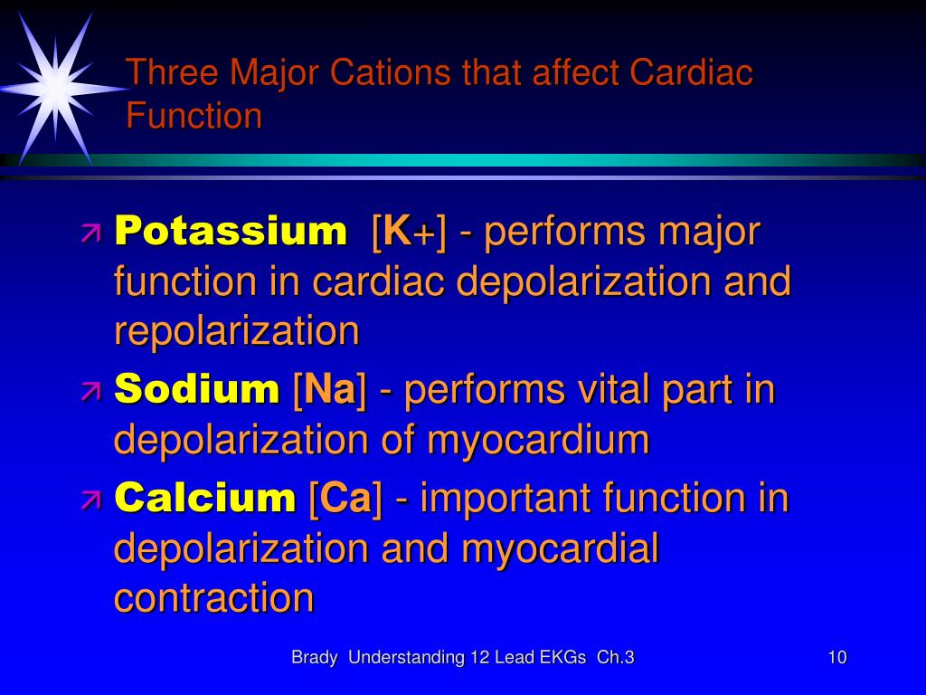 Three Major Cations that affect Cardiac Function