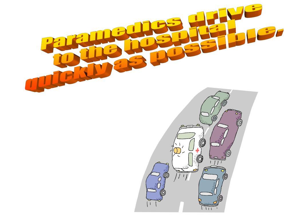 Paramedics drive