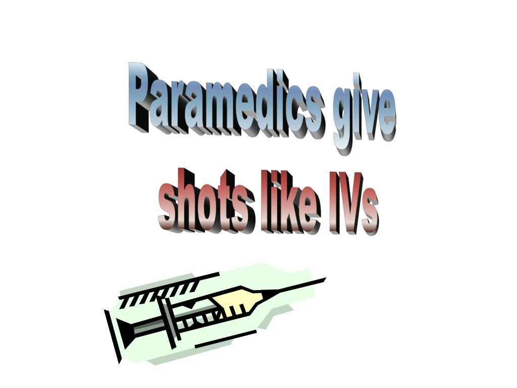 Paramedics give
