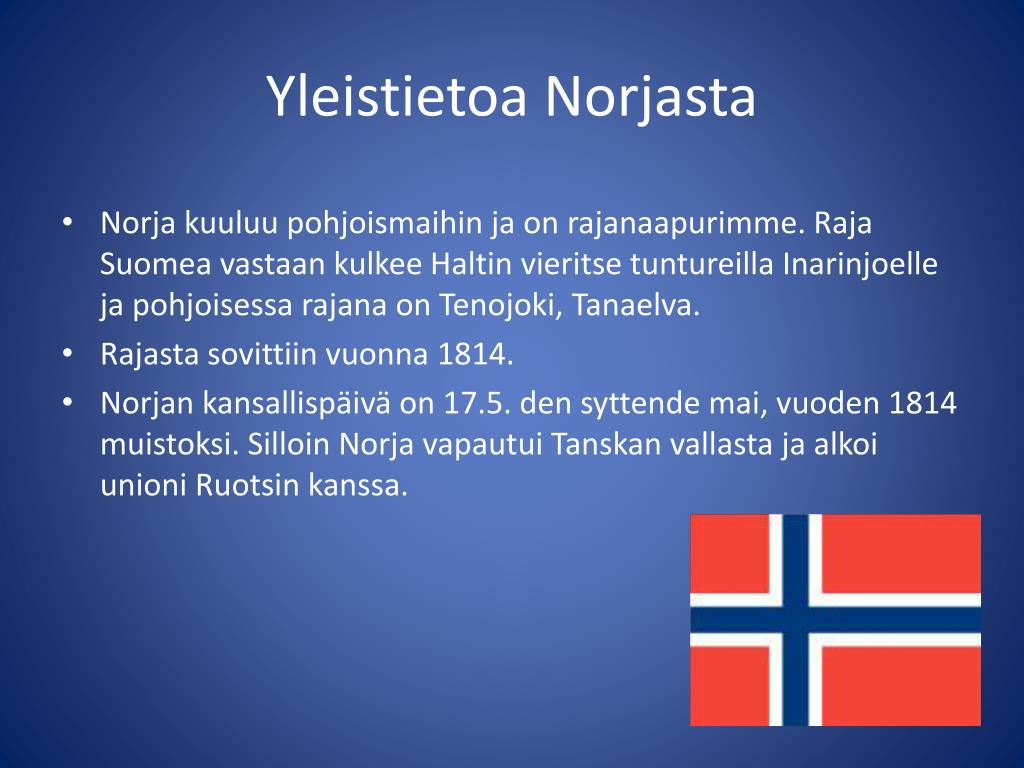 Yleistietoa Norjasta