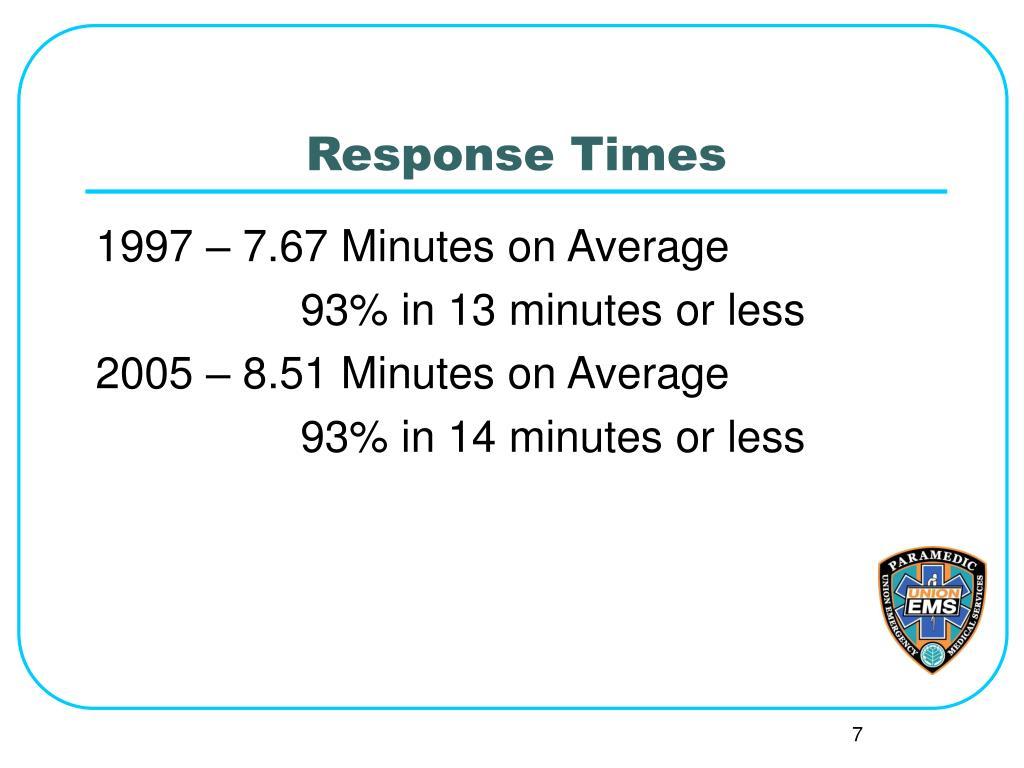 Response Times