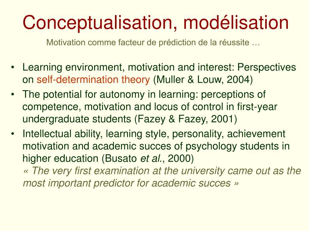 Conceptualisation, modélisation