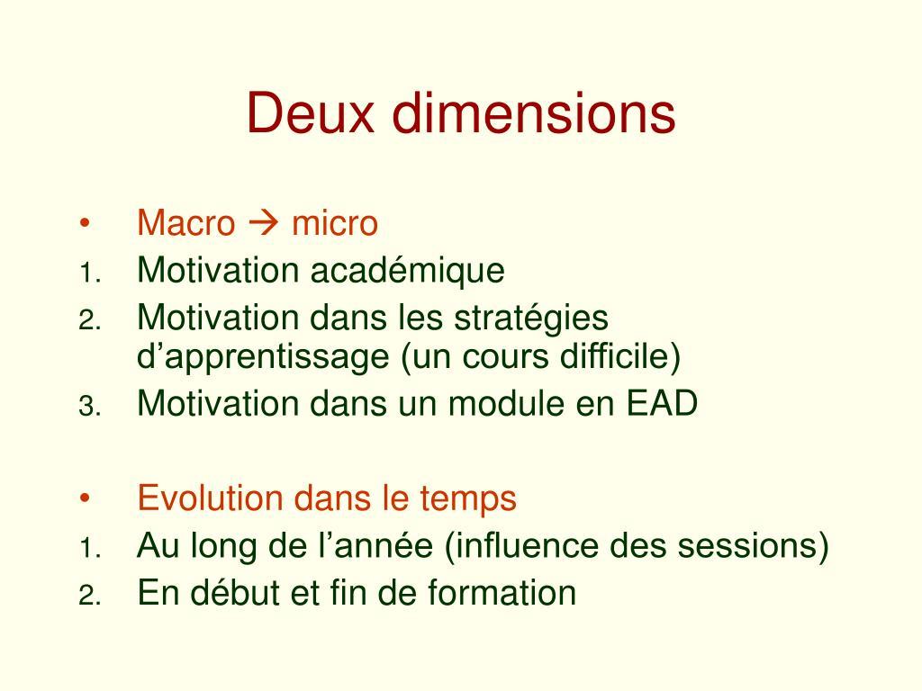Deux dimensions