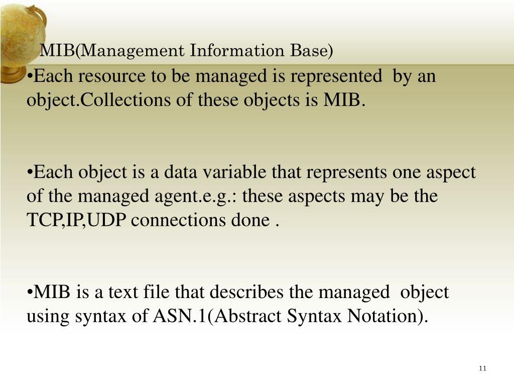 MIB(Management Information Base)