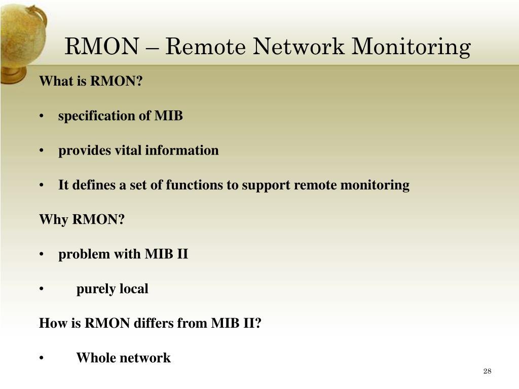 RMON – Remote Network Monitoring