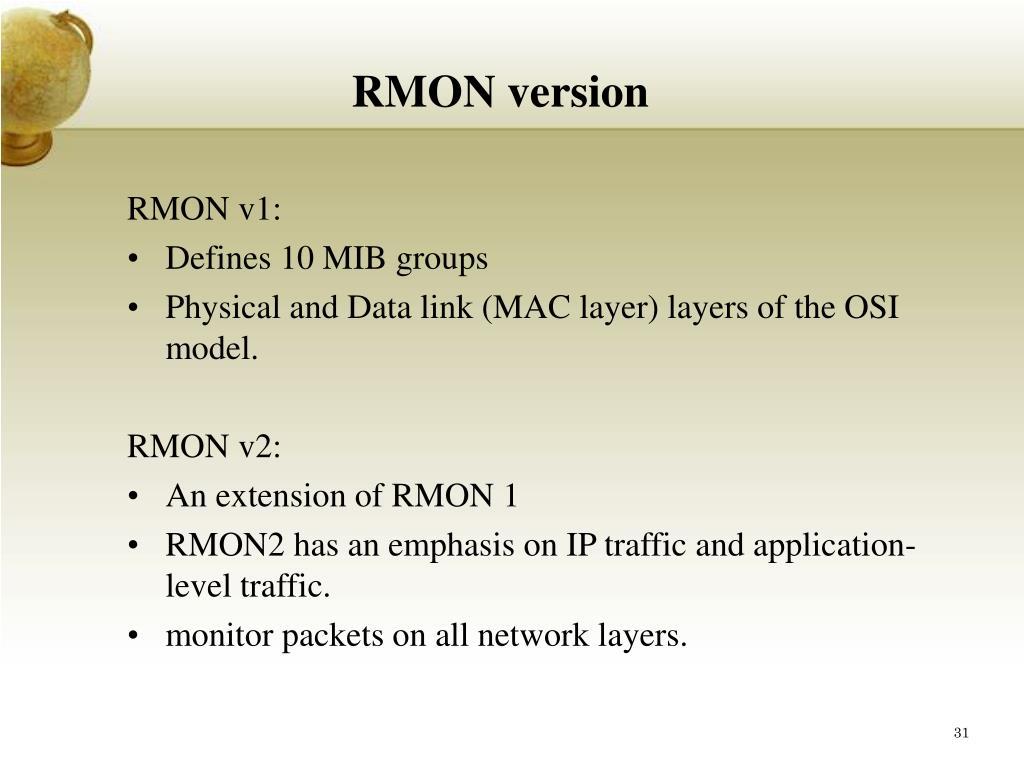 RMON version