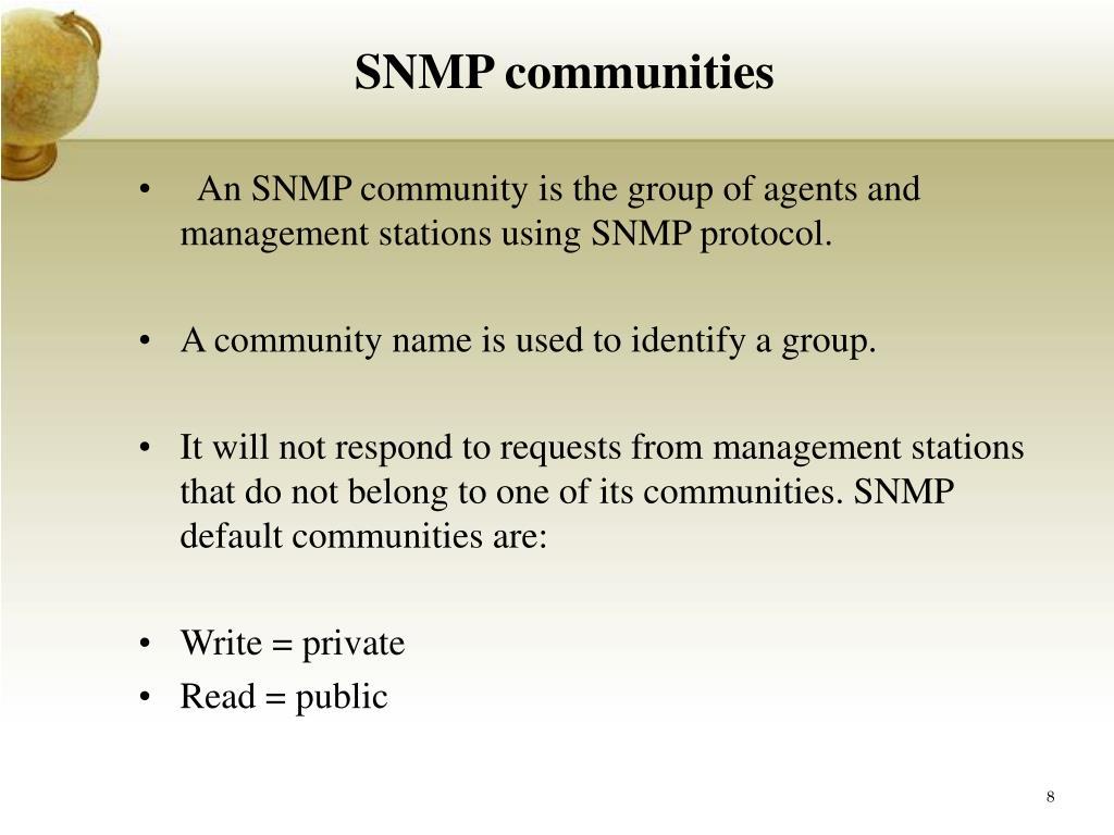 SNMP communities