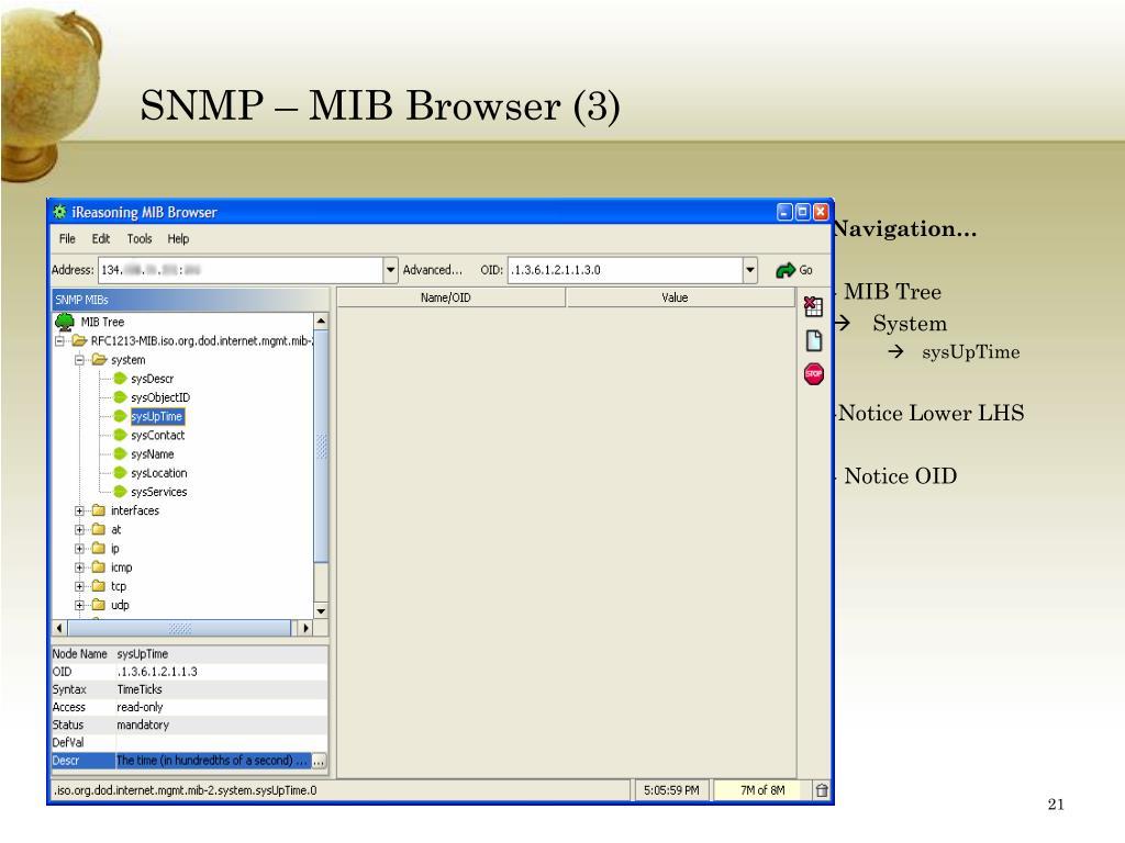 SNMP – MIB Browser (3)