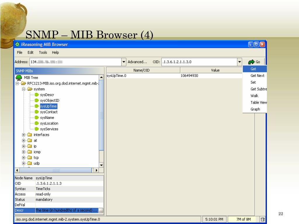 SNMP – MIB Browser (4)