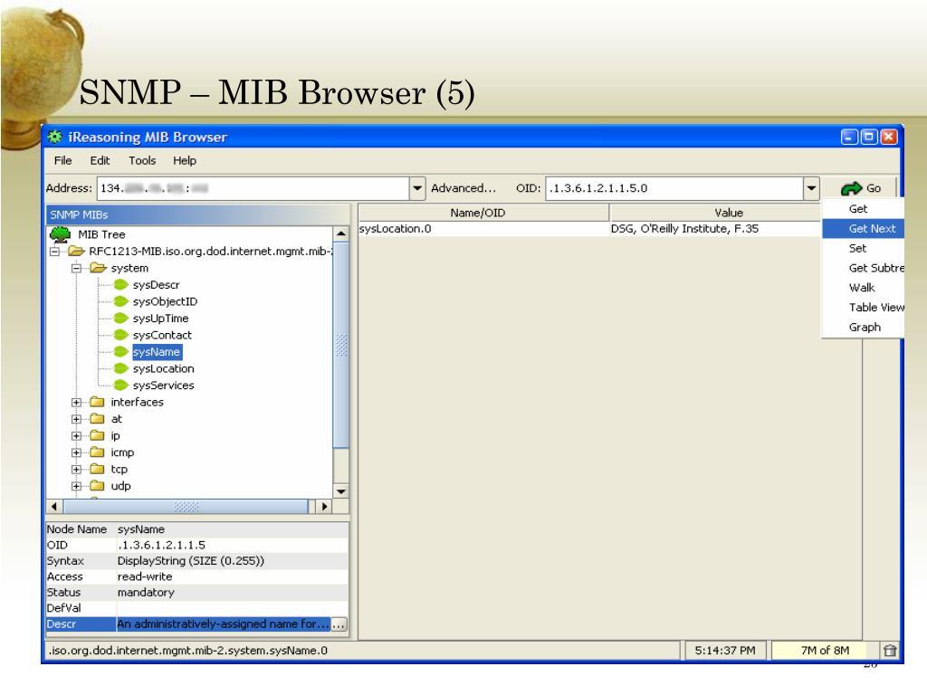 SNMP – MIB Browser (5)