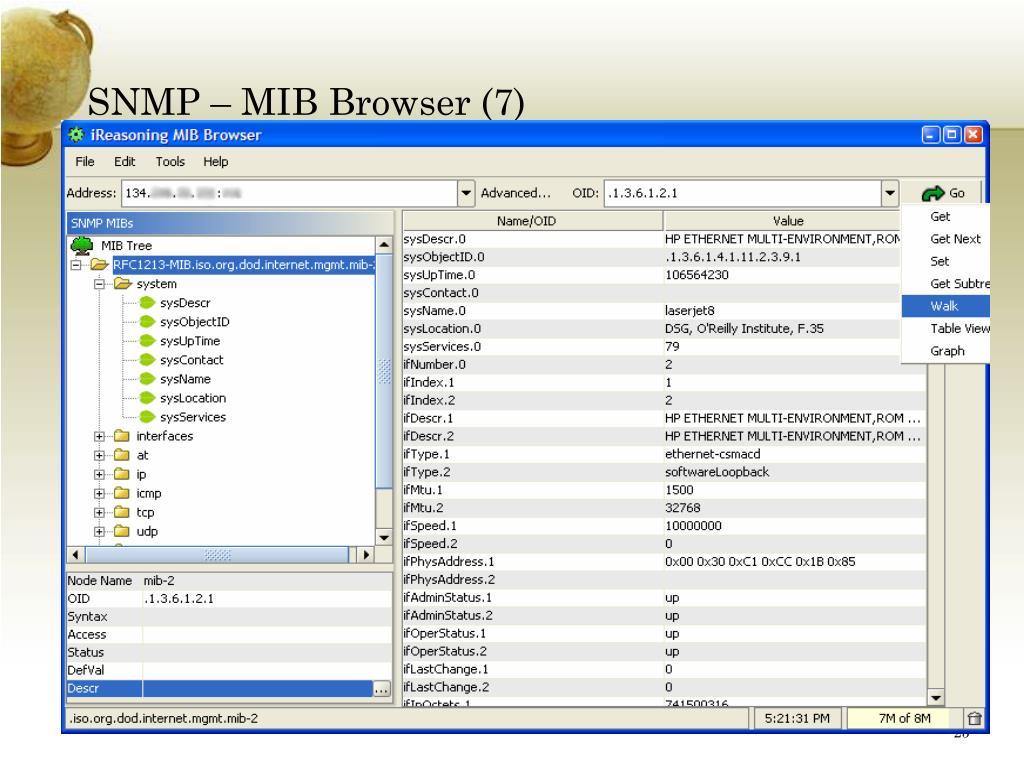 SNMP – MIB Browser (7)